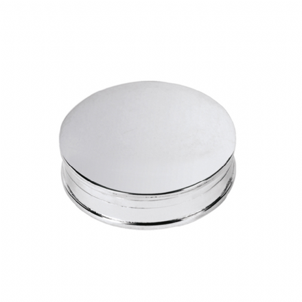Sterling Silver Round Pillbox